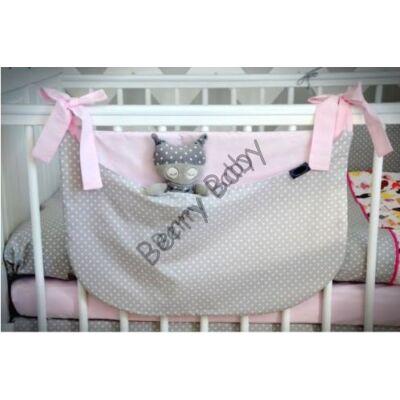 SMILE Diaper Storage: Gray Dots Baby Rose