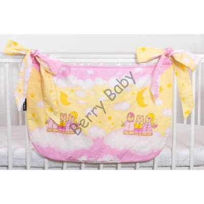 SMILE Diaper Storage: Rose-Yellow Bear