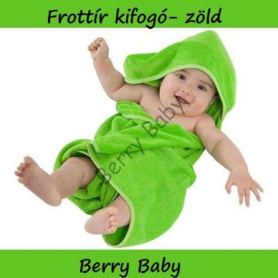 Terry Hooded Towel 75 x 75 cm: Green