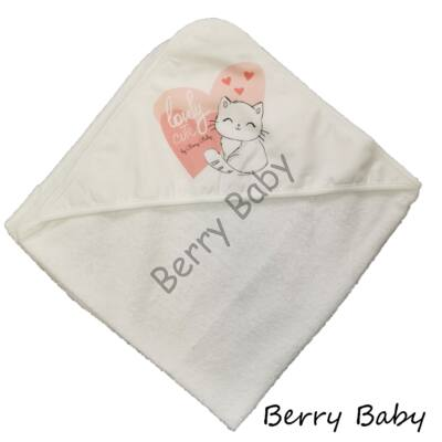 Terry Hooded Towel 80x100 cm: Lovely Cat