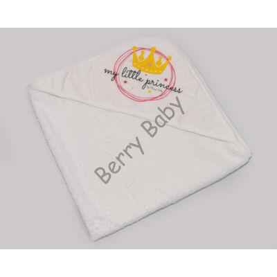 Terry Hooded Towel 75 x 75 cm: Princess (White)