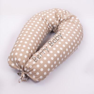 CLASSIC Nursing Pillow: Big Beige Dots