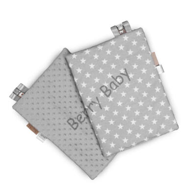 Tag PIllow for Babies: Gray Minky+Gray STars  30x40 cm