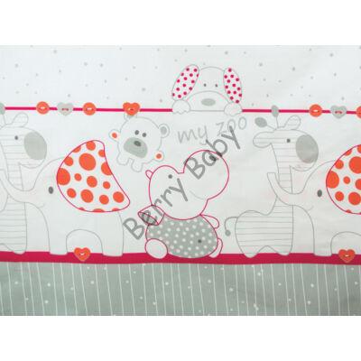 BASIC Cotton Sheet 60x120 cm: Red Zoo