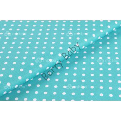 BASIC Cotton Sheet 60x120 cm: Turquoise Dots
