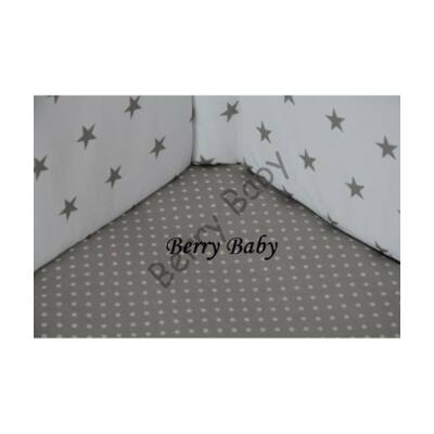 BASIC Cotton Sheet 60x120 cm: Small Gray Dots