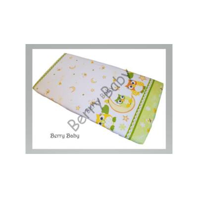 BASIC Cotton Sheet 60x120 cm: Green Owl