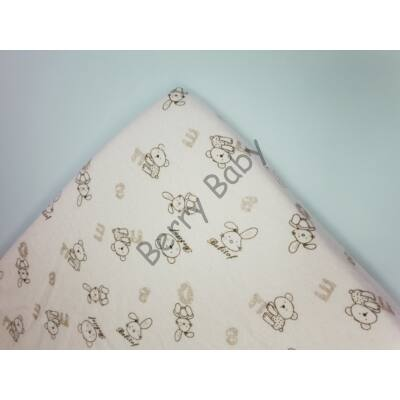 FLANNEL Sheet for 70x140 cm Baby Bed: Rose Bear