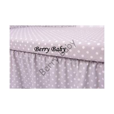 FRILLY Sheet for 60x120 cm Baby Bed: Gray Dots
