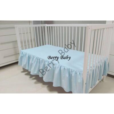 FRILLY Sheet for 60x120 cm Baby Bed: Baby Blue