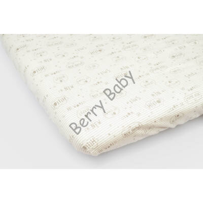 Jersey Sheet for 70x140 cm Baby Bed: Gray Hello!
