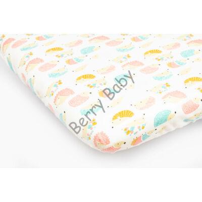 Jersey Sheet for 60x120 cm Baby Bed: Rose Hedgehog