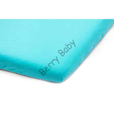 Jersey Sheet for 60x120 cm Baby Bed: Turquoise