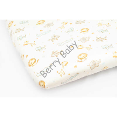 Jersey Sheet for 70x140 cm Baby Bed: Blue Safari
