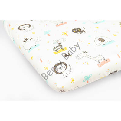 Jersey Sheet for 70x140 cm Baby Bed: Green Safari