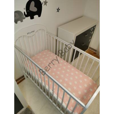 Feather Bed for 60x120 cm Baby Bed: Peach White Stars