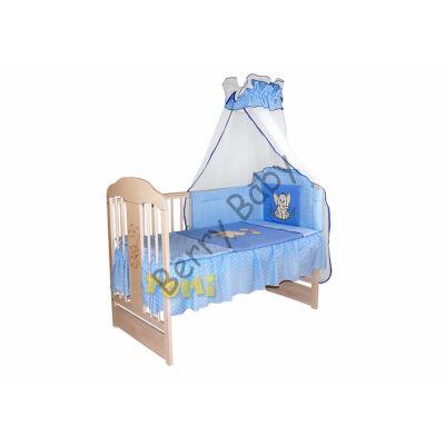 PREMIUM TOMI Embroidered Bedding Set- Blue Elephants
