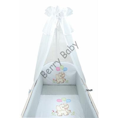 PREMIUM TOMI Embroidered Bedding Set: Gray Elephants