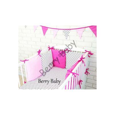 LUXURY Bedding Set: Pink-Rose-White Dots
