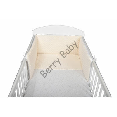 MINKY Bedding Set: BEIGE MINKY GOLD STARS  EXTRA SIZE Bedding Set
