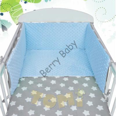 MINKY Bedding Set: BLUE MINKY+ BIG GRAY STARS