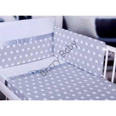STARS and DOTS Bedding Set: Gray+ White Dots