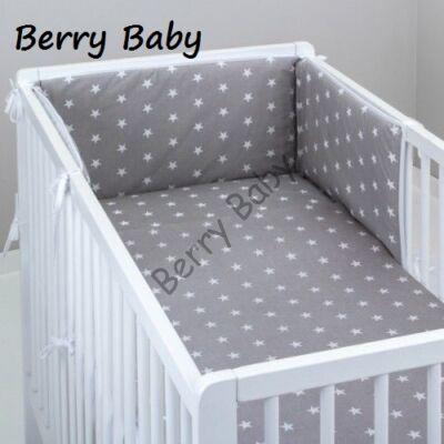 STARS and DOTS Bedding Set: Gray+ White Stars