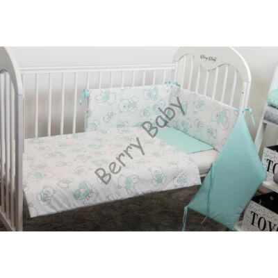 STARS and DOTS Bedding Set: MInt Bear