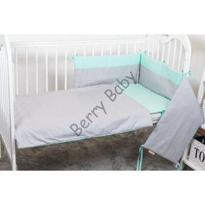 STARS and DOTS Bedding Set: Mint+ Gray Dots