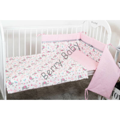STARS and DOTS Bedding Set: Rose Elephants