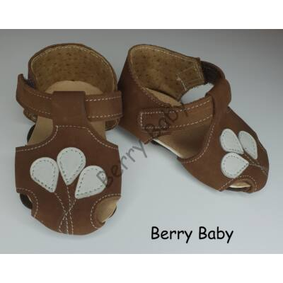 Baby Leather Shoes: Brown Balloons Size 18