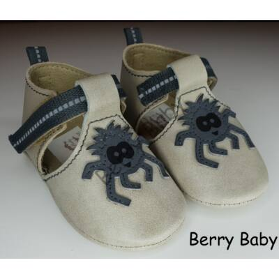 Baby Leather Shoes: Gray Spider Size 17