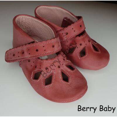 Baby Leather Shoes: Rose Lacy  Size 19