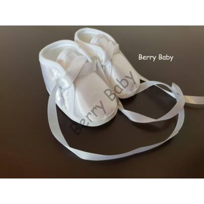 Baby Christening Satin Shoes Size 1 (Boy)