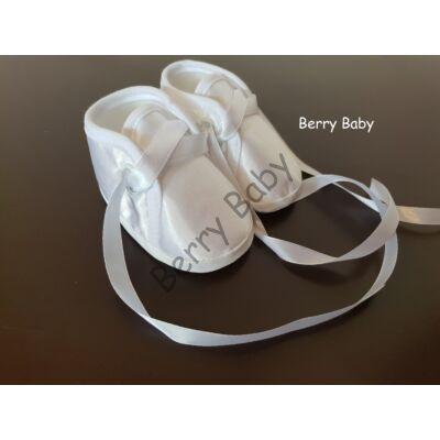 Baby Christening Satin Shoes Size 2 (Boy)