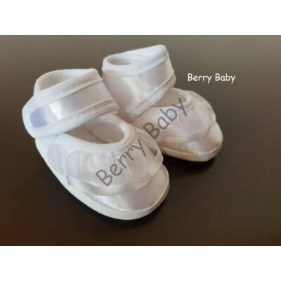 Baby Christening Satin Shoes Size 1 (Girls)