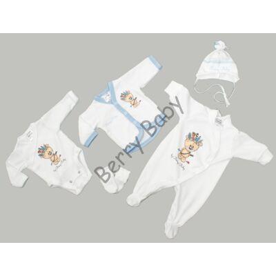 Premium 5 pieces homecoming clothes set- Bear- 56 (newborn)