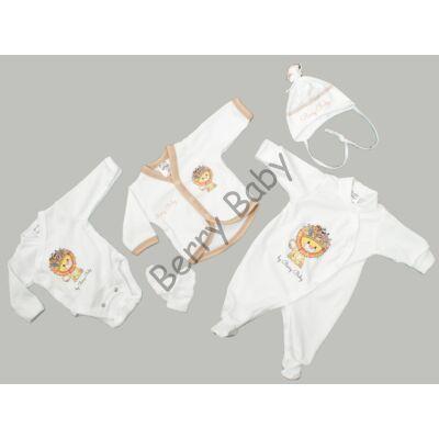 Premium 5 pieces homecoming clothes set- Lion- 50 (newborn)