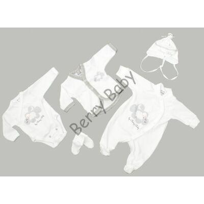 Premium 5 pieces homecoming clothes set- Sheep- 50 (newborn)