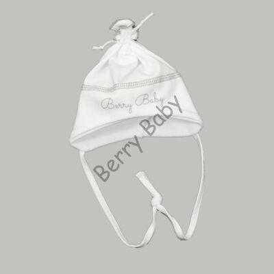 Cotton Hat: White- Gray 56
