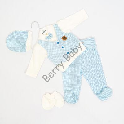 5 parts elegant set- Size: 62- Blue White