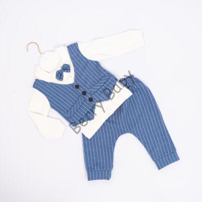 2 Part Elegant Little Boy Set: Lightblue Stripes Size: 80 (12 months)