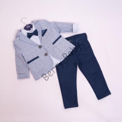 3 part litle boy elegant set- size:80-86 blue