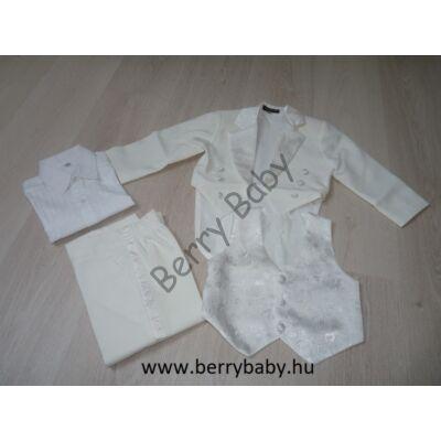 5 part elegant set for little boys: 2 years- white tailcoat