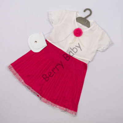Elegant Dress for Little girls- Pink- Size: 3 year