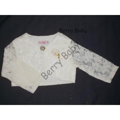 Lace bolero for little girls:- Cream: Size: 116