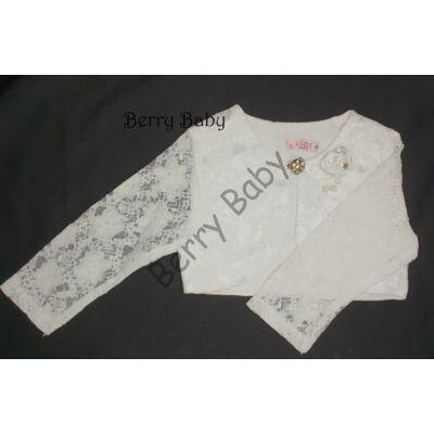 Lace bolero for little girls:- White: Size: 122