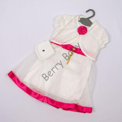 Elegant Dress for Little girls- Pink-White Size: 2 year