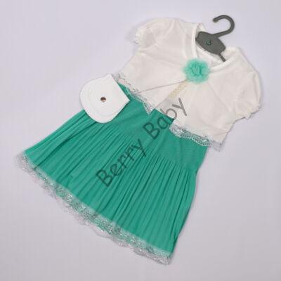 Elegant Dress for Little girls- Mint- Size: 1 year