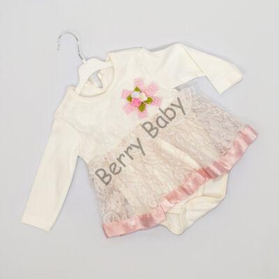 Little girl bodysuit dress for event 12-18 months- rose